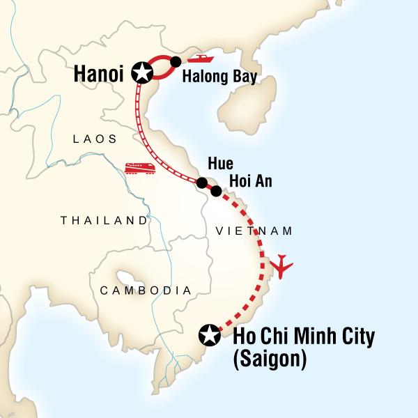 Classic Vietnam Tour Map