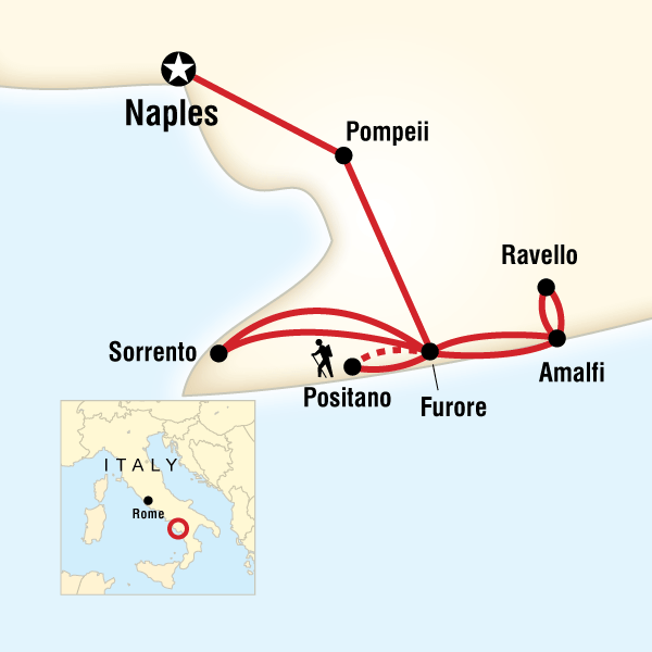 Amalfi Coast Map